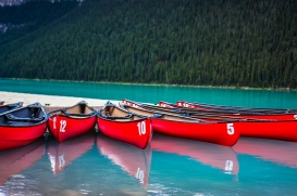 Canoes in Banff