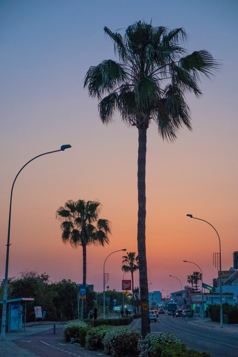 Sunset on Nissi Ave